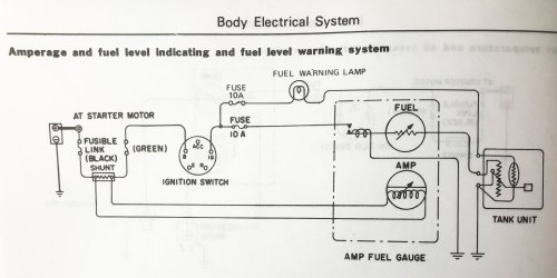 small resolution of  cs144 alternator is not charging battery s30 series 240z 260z on 12si wiring