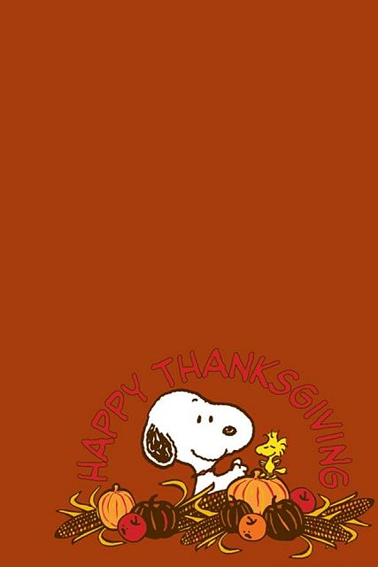 Cute Snoopy Wallpaper Iphone Iphone 4 4s Thanksgiving Wallpapers Iphone Ipad Ipod