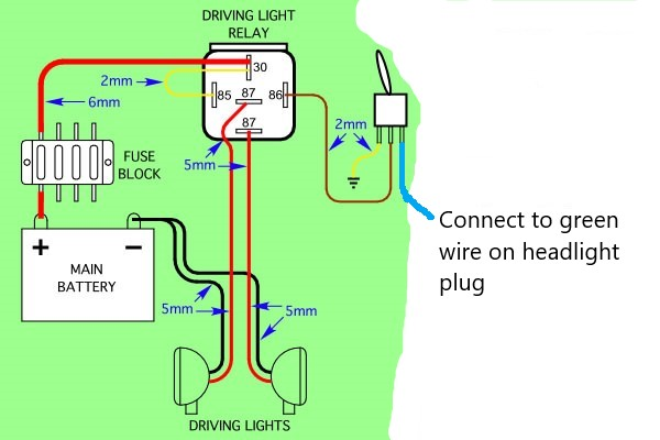 Driving Light Wiring Diagram On Spotlight Wiring Diagram For Boat