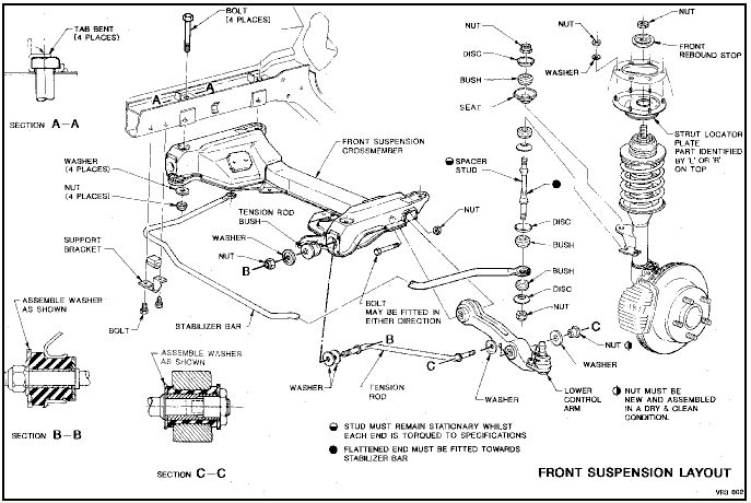 front end diagram ford ka door wiring vs commodore just commodores vr suspension jpg