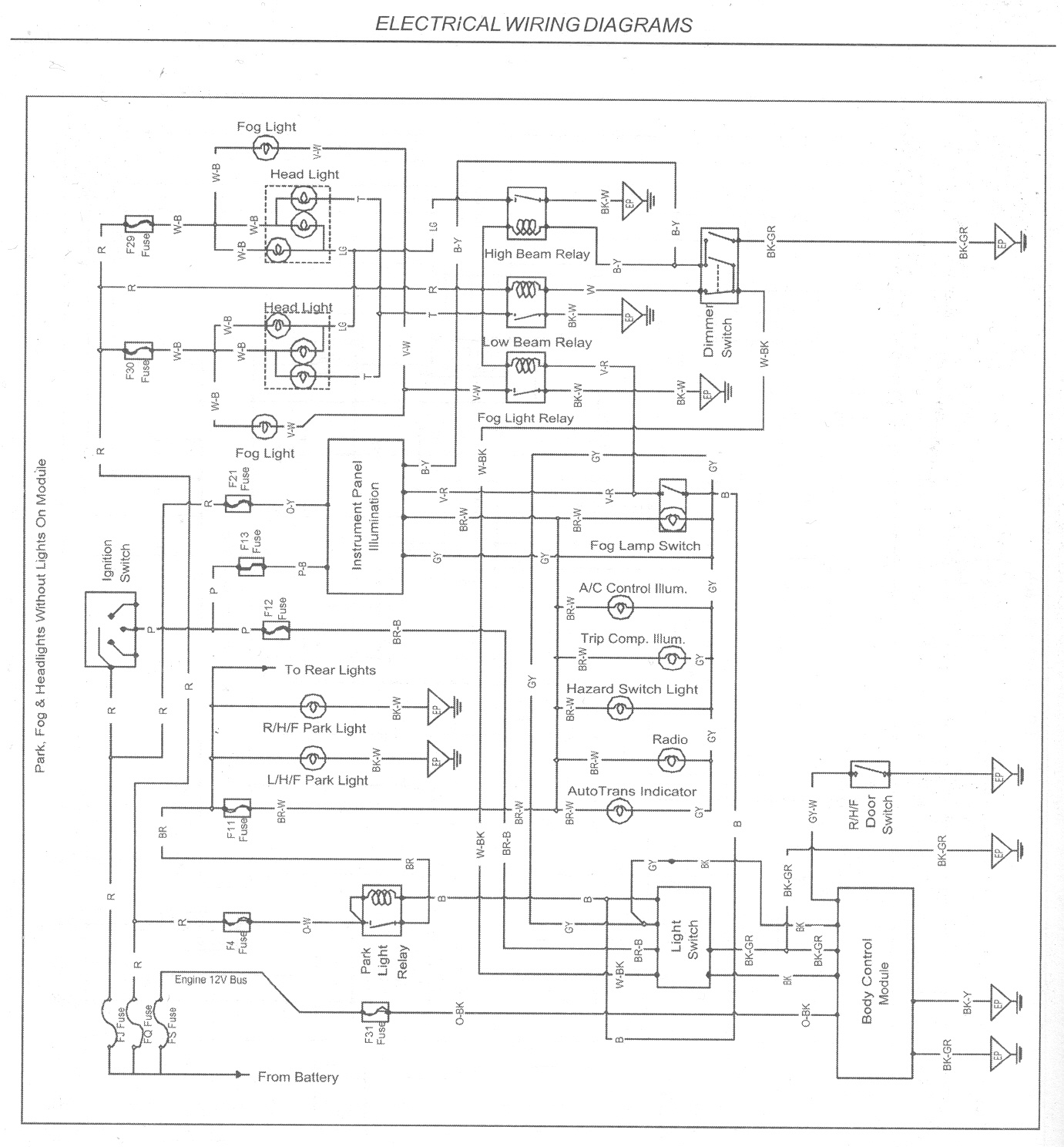 Headlight Switch Wiring Diagram? Just Commodores