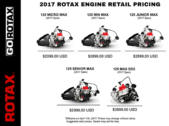 Contact info and 2017 Pricing for Rotax Motors in the U.S