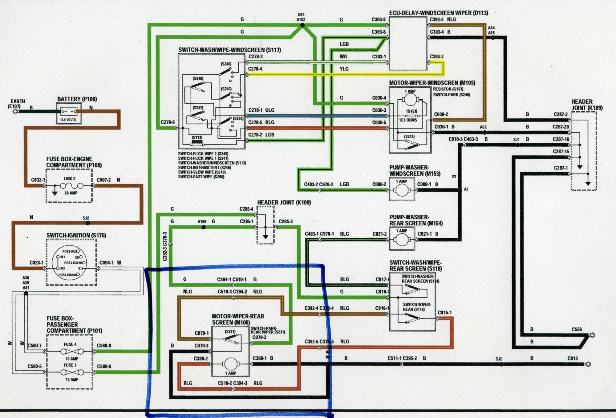 hight resolution of rear wiper motor wiring defender forum lr4x4 the land rover 110 fuse box diagram land rover