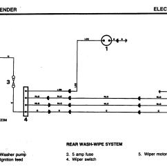 Rear Wiper Motor Wiring Diagram Parts Of A Water Lily Defender Forum Lr4x4 The