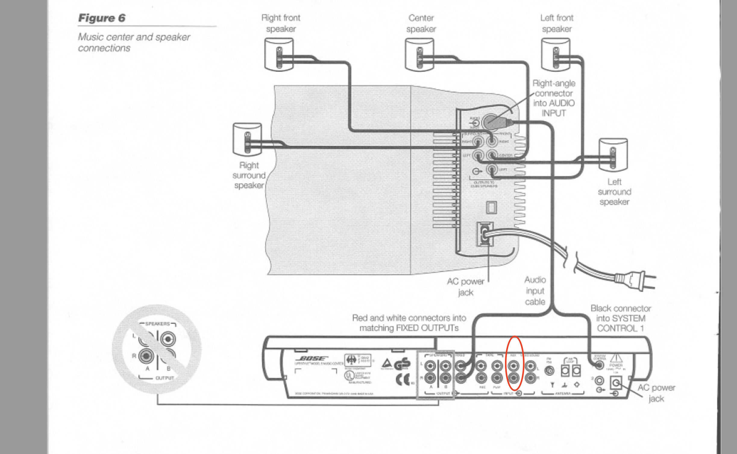 5 1 Bose Speakers System Schematic For Wiring bose ...  Surround Sound Wiring Diagram on