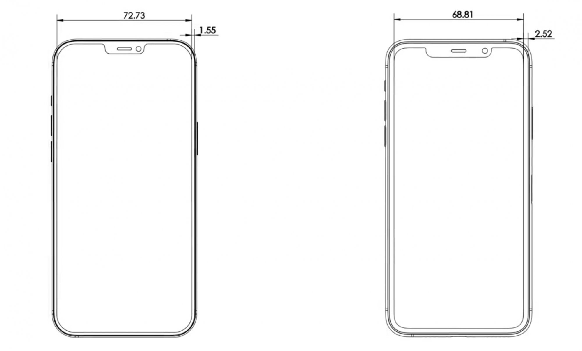 Leaked iPhone 12 Pro Max Schematics Show Thinner Design