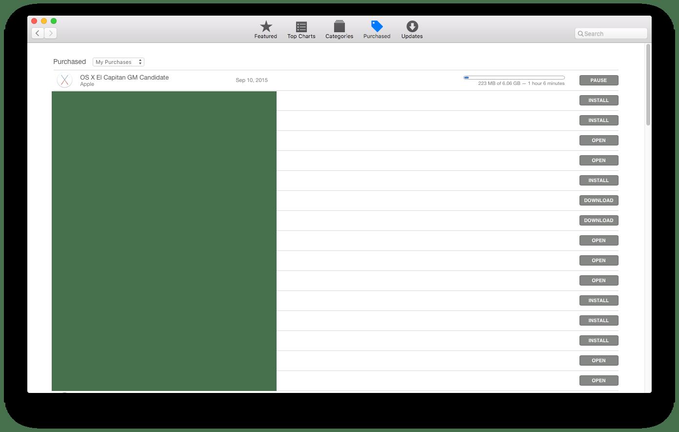 Apple Releases OS X El Capitan Golden Master to Developers