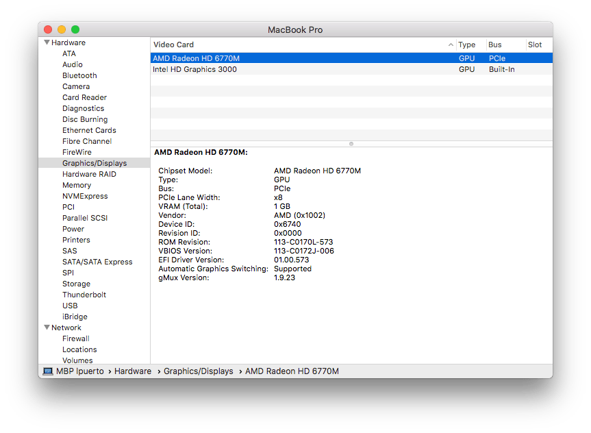 Force 2011 MacBook Pro 8,2 with failed AMD GPU to ALWAYS
