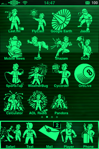 Fall Themed Iphone Wallpapers Release Fallout 3 Pipboy 3000 Theme In 4 Colors