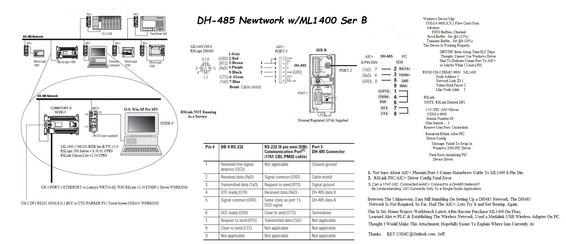 ab micrologix 1400 wiring diagram ml1400 configuring dh485 network stumbling allen bradley