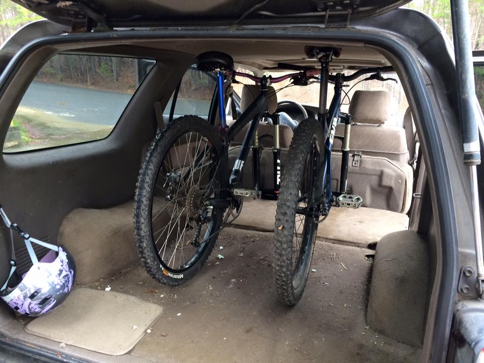 Homemade SUV Bike Rack