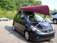 Honda Fit with roof rack anyone?