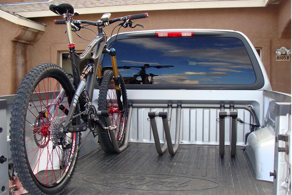 Hauling Mountain Bike in Truck Bed