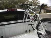 Truck bed bike racks