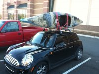 Mini cooper roof or hitch rack?