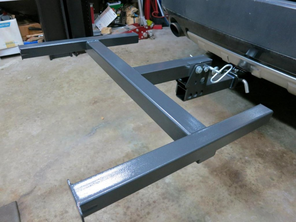 Roof rack use on trailer hitch?