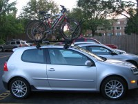 Roof rack or hitch for GTI
