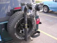 Bike Rack question (spare tire mounted) input needed
