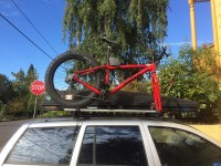 Fat Bike on a fork mount roof rack?