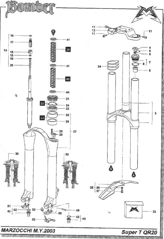 Marzocchi bomber z1 2002 cadillac
