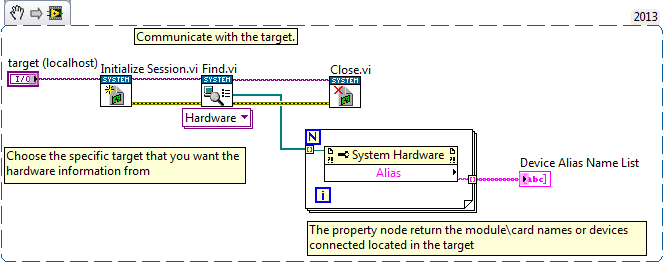 Programmatically Obtain Modules Alias Names  Discussion Forums  National Instruments