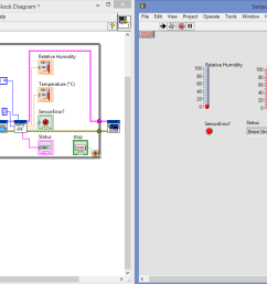 when lcd lcd2004 i2c vi is connected with my dht22 read vi in my block diagram the lcd is working showing no of loop but dht22 showing fluctuating data  [ 1360 x 722 Pixel ]