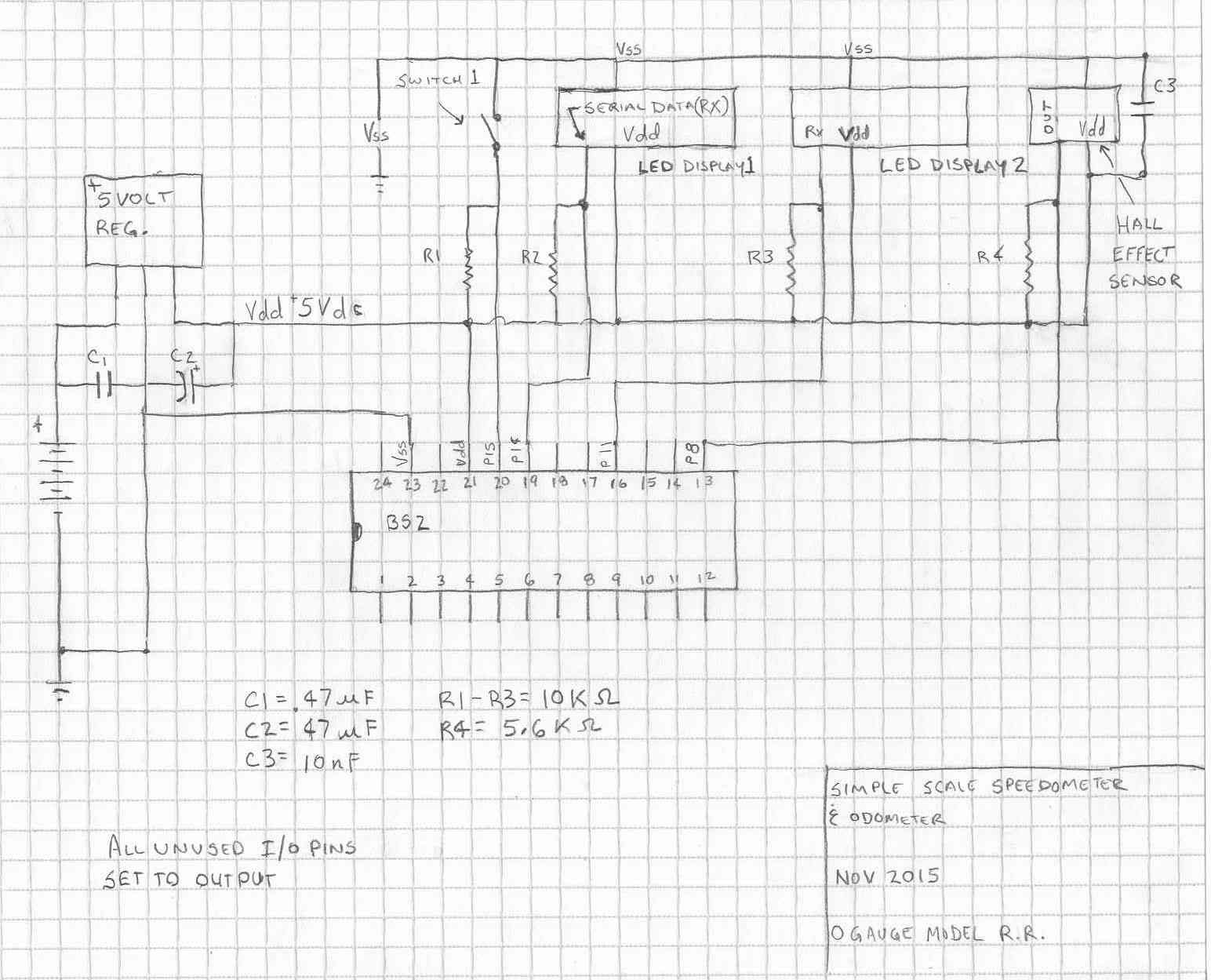 Model Train Speedometer And Odometer