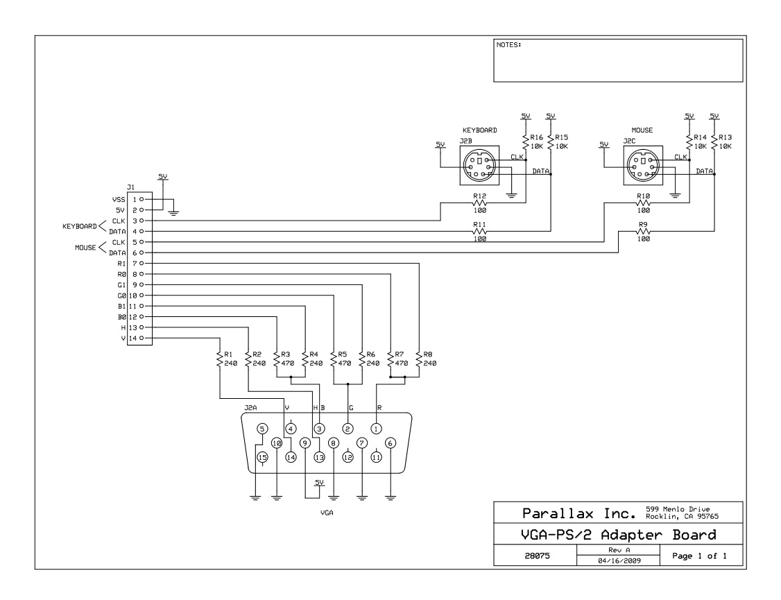 hight resolution of 28075 vga ps2 adapter board a schematic jpg