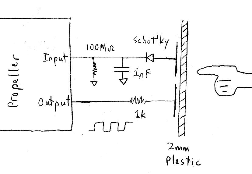 simple capacitive touch sensor circuit
