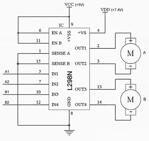 How To: Use a L298N Dual H-Bridge with a Microcontroller