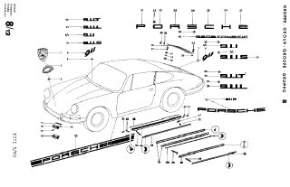 911/911S Exploded-View Part Diagram Sets, 1963-1969