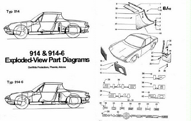 Porsche 914 Exploded Part Diagram, Porsche, Free Engine