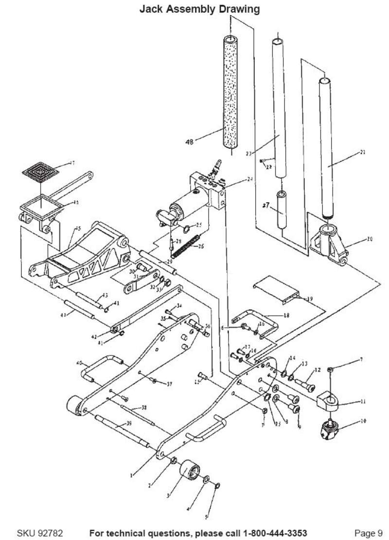Floor Jack Hydraulic Circuit Diagrams, Floor, Free Engine