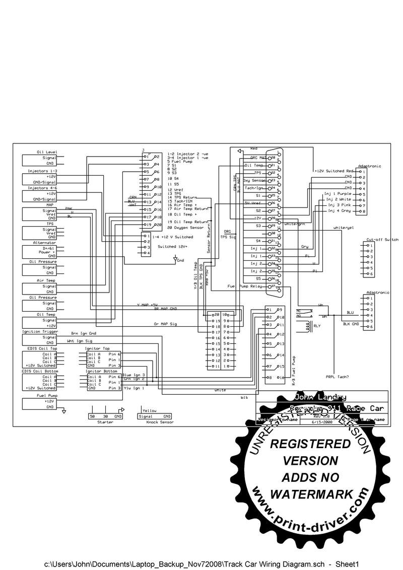 porsche 911 turbo wiring diagram 110 volt relay supercharged race car build - pelican parts technical bbs