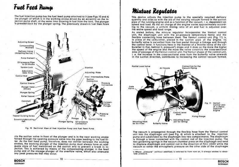 New old MFI document: 1954 Bosch Injection Equipment for