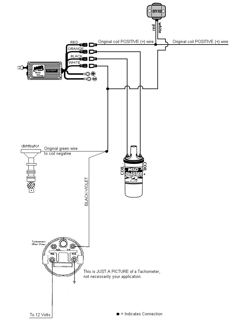 vdo tachometer with hour meter wiring diagram 7 blade best library small coil tach 89 400se