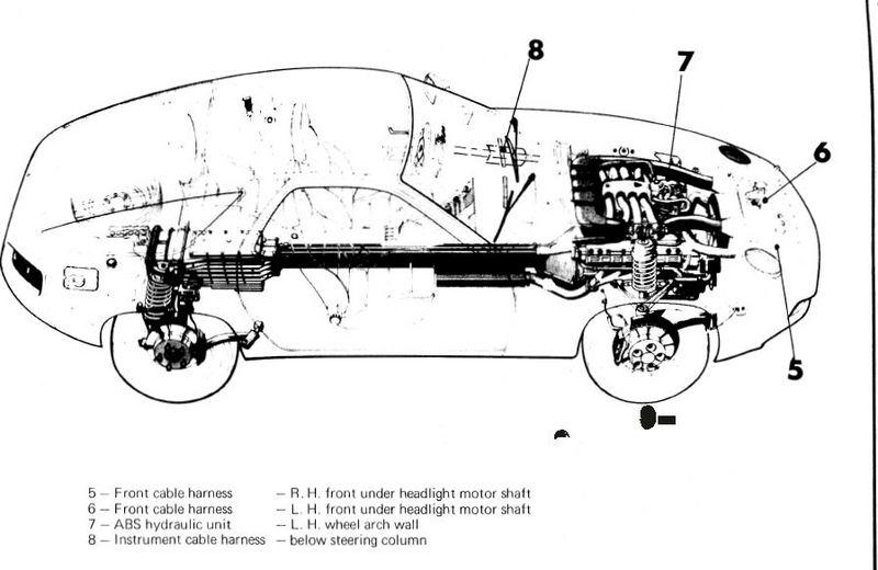 porsche 928 ground points further porsche 944 relay diagram on