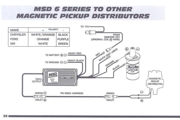 msd 6al wiring diagram lt1 vw beetle 1965 6420 www toyskids co connecting to one wire 87 930 distributor for hei