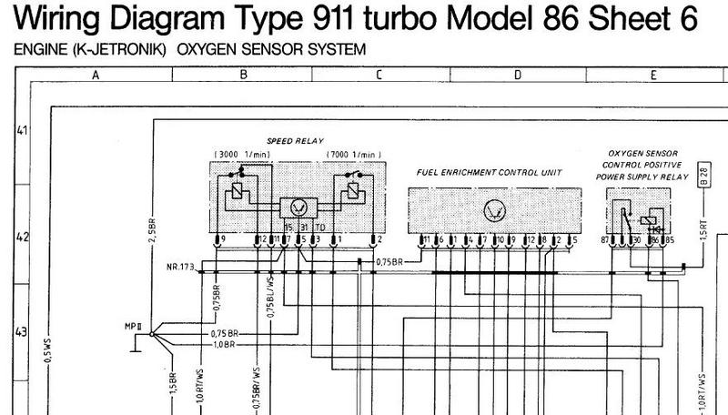 porsche cayenne wiring diagram parts of the brain labeled 930 electrical & emissions locations - pelican forums