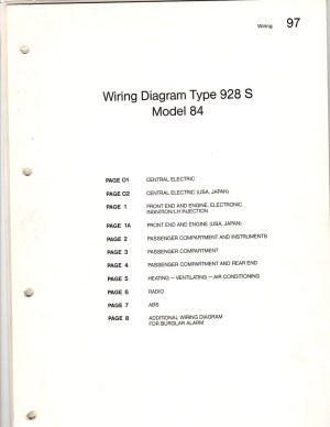 1984 928S and 1993 928GTS wiring diagram sets  Pelican