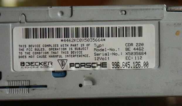 Porsche Cdr 220 Wiring