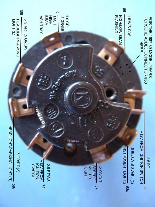 porsche 911 headlight wiring diagram for electrical outlet help with headlamp switch please pelican parts forums gerry