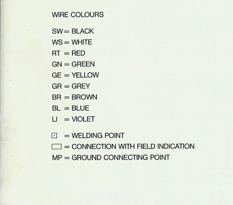 Mercedes Wiring Diagram Color Codes