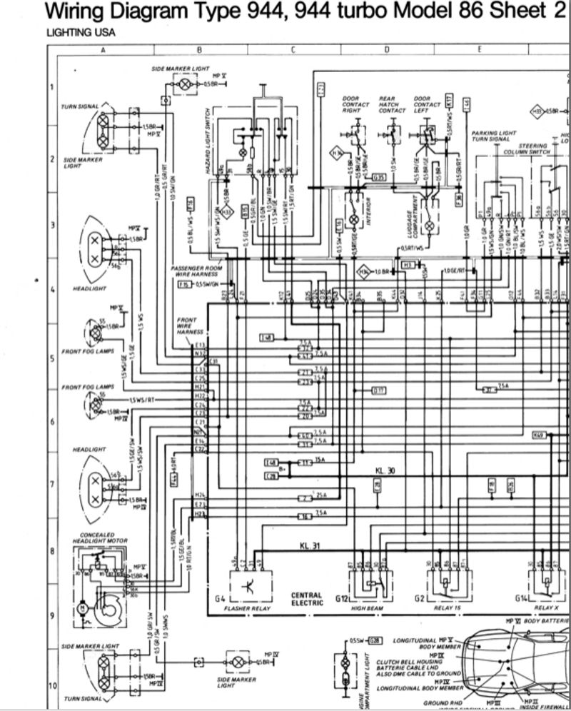 medium resolution of porsche 944 wiring diagram wiring diagram pass porsche 944 abs wiring diagram