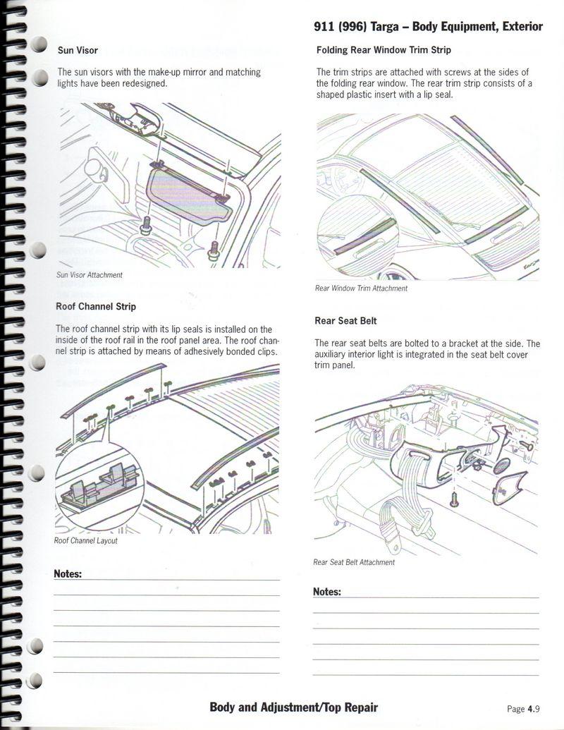 Porsche 911 996 Cabriolet/Coupe/Targa/Boxster roof/top