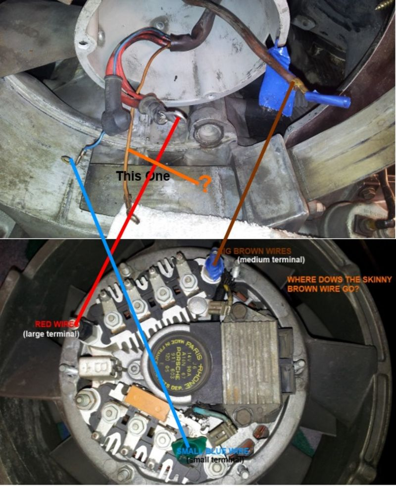 alternator 3 wire diagram 2001 jeep wrangler stereo wiring 84' 3.2l help needed - pelican parts forums