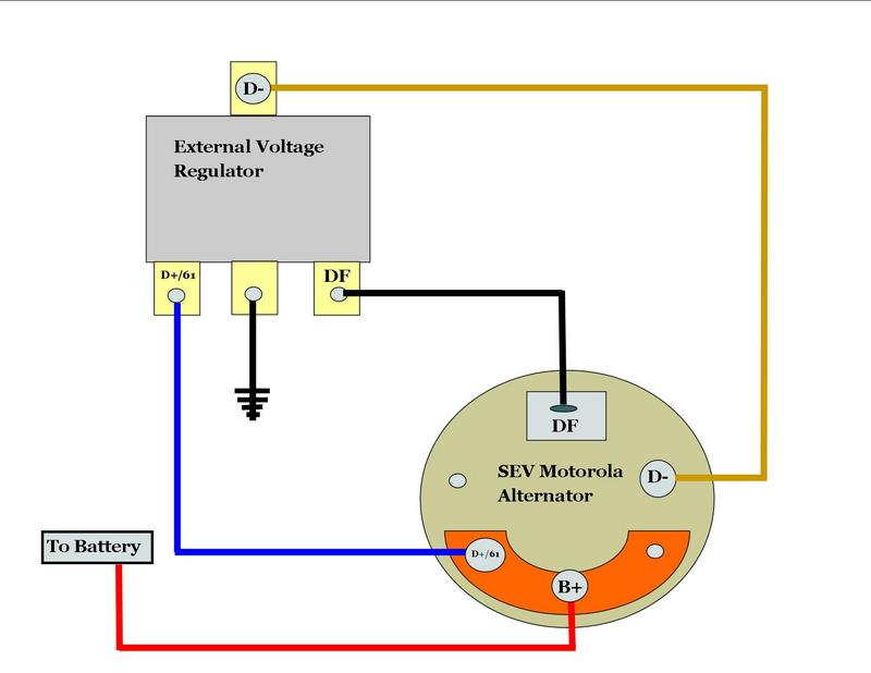 wiring diagram alternator regulator