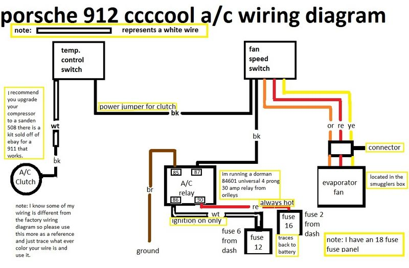 ac wiring diagram for car plot the maze runner 1976 912e need air conditioning a/c help - pelican parts forums