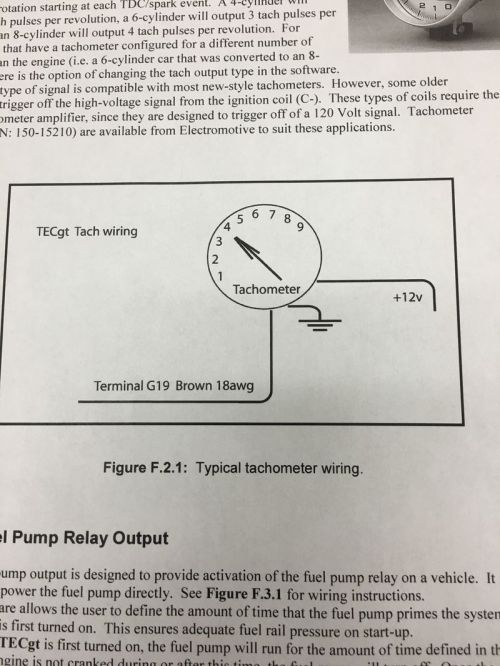 small resolution of electromotive wiring instructions photo of back of tach mine is a 74 and not certain if my photo is an exact match