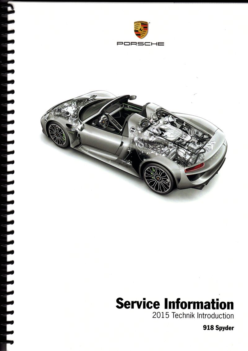 918 Spyder Service Information 2015 Technik Introduction